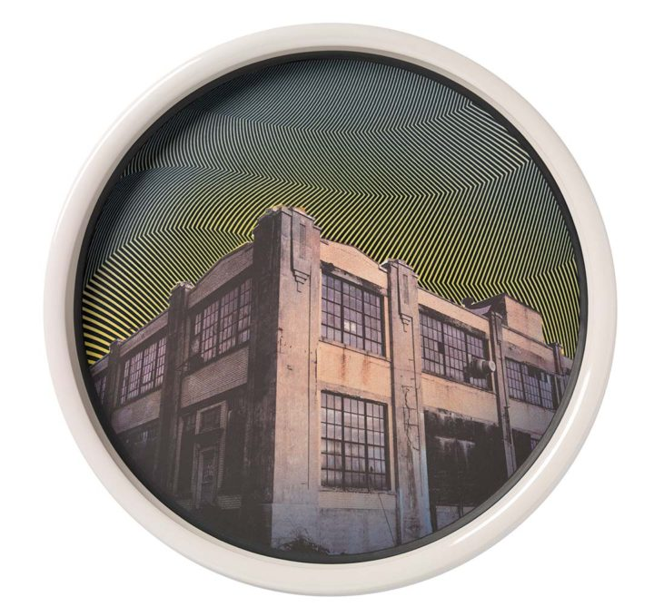 Municipal Maintenance Building Platter, 2015 Porcelain with screen print, d. 18 13/16 in.