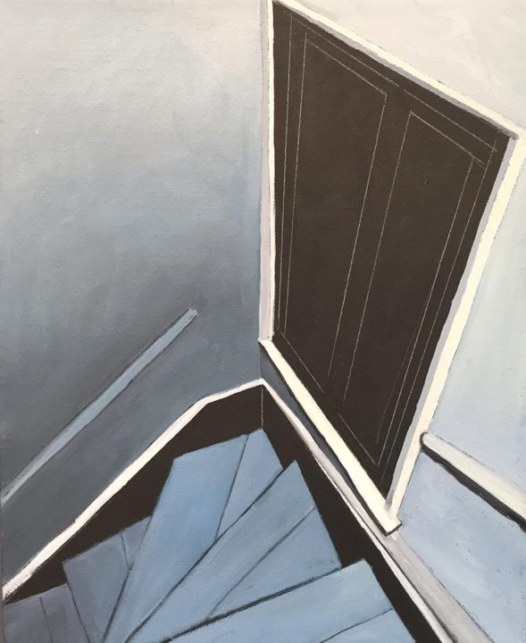 Structure #8, 2015 Oil on linen, 18 x 22 in.