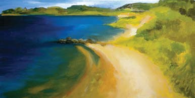 Upper right: Beach Study 2, 2007 Oil on canvas 15 x 30 in. Lent by the artist