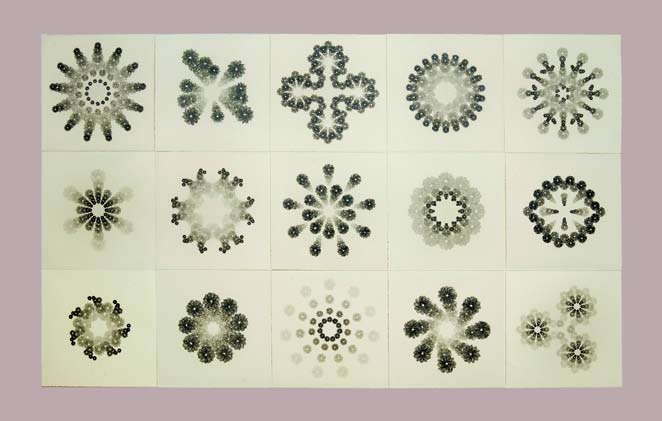Diamond Froth #2, 2008 Graphite on paper 66 x 252 in. Lent by the artist