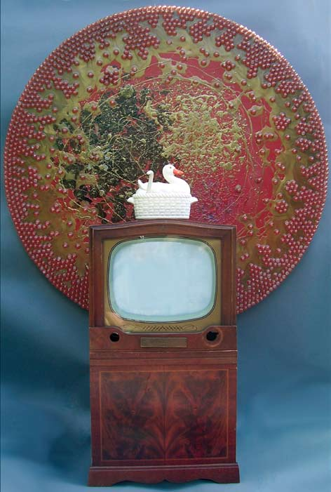 China, 2008 Plastic, acrylic, wood, glass, ceramic, water, DVD video 81 x 60 x 30 inches Lent by the artist