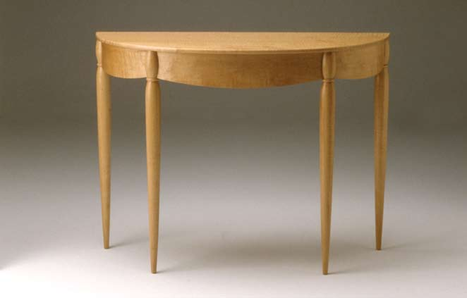 Table, 1986 Curly maple 29 1/2 x 39 x 16 in. Collection of the artist