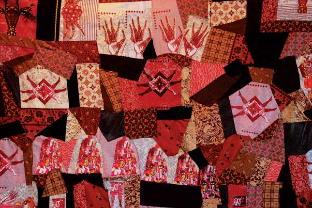 The Other Victorians, 2008 Fabric crazy quilt 62 x 62 in. Lent by the artist
